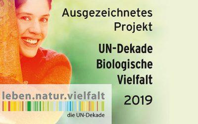 F.R.A.N.Z. als Projekt der UN-Dekade Biologische Vielfalt ausgezeichnet